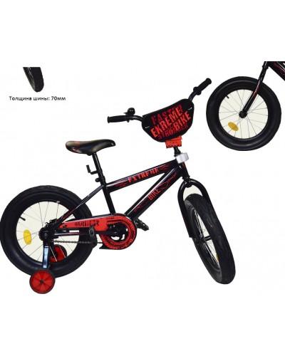Велосипед 2-х колес 16'' 181645 EXTREME BIKE со звонком, зеркалом, руч.тормоз