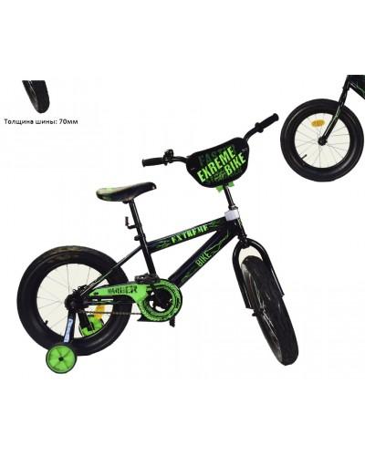 Велосипед 2-х колес 16'' 181646 EXTREME BIKE со звонком, зеркалом, руч.тормоз