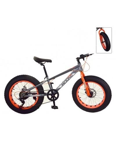 "Велосипед 2-х колес 20"" FUL-1820G серый, подножка, руч.тормоз"