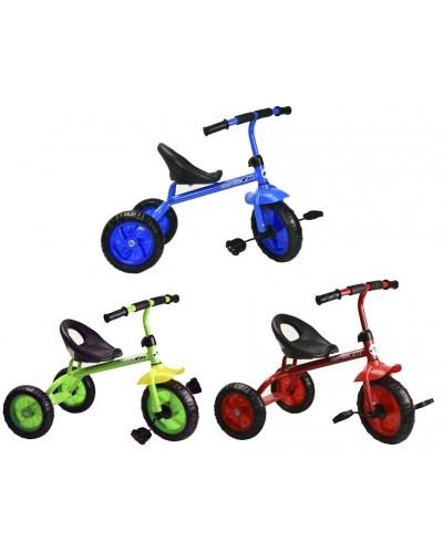 Велосипед 3-х колес 1812 3 цвета, красный, голубой, зеленый