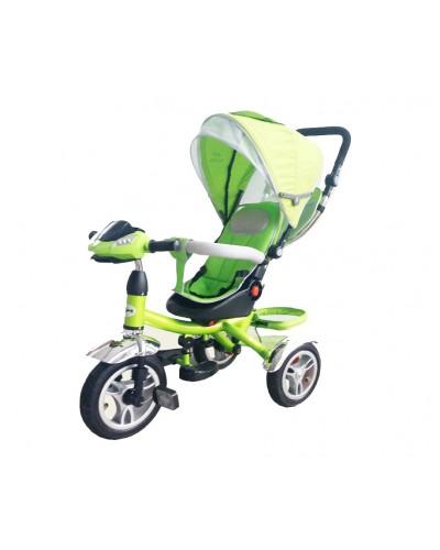 Велосипед 3-х колес TR014 САЛ складной козырек, поворт сидения, надувные колеса 12' и 10'