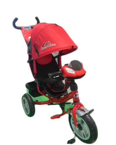 Велосипед 3-х колес TR17010 КР складной козырек, надувные колеса 12' и 10'