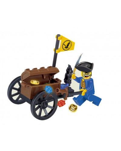 """Конструктор """"Brick"""" 1202 """"Пираты"""" 25 дет., 6+ лет, в кор. 9.5*5*7см"""