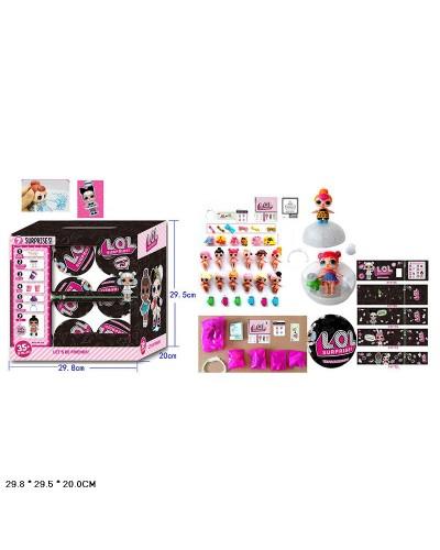 Кукла типа L TB1220 герои в шаре, аксесс., плюет, в кор.29,8*29,5*20см 18 шт. в коробке