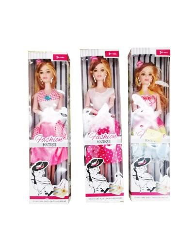 "Кукла типа ""Барби 213 3 вида микс, в кор 32,5*8,3*4,5 см"