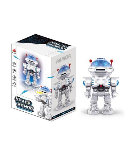 Робот батар. 27107 ходит вперед-назад, стреляет дисками, свет, звук, в кор.