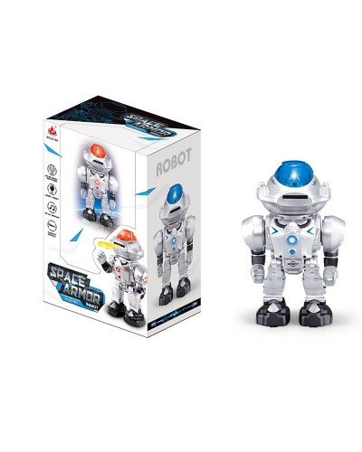 Робот батар. 27108 ходит вперед-назад, стреляет дисками, свет, звук, в кор.