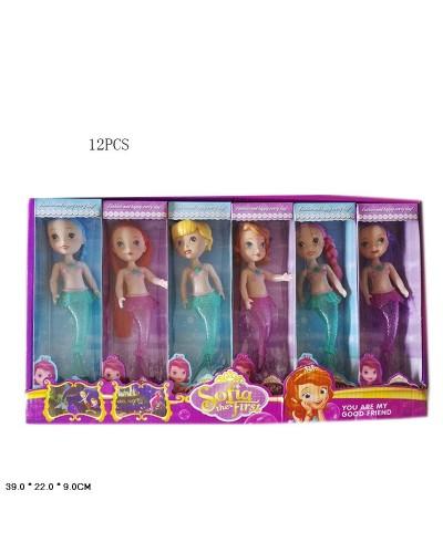 Кукла  630 4 вида микс ,  в кор 39,5*22*8,5 см