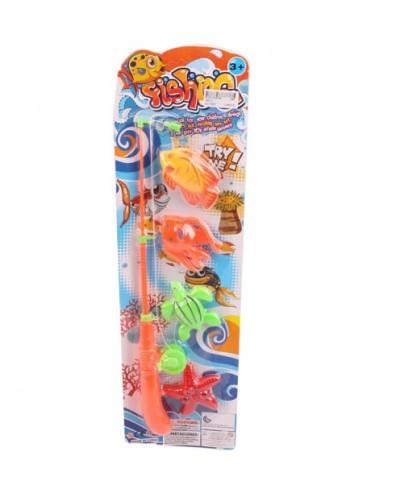 Рыбалка 7901A магнит., удочка,рыбки,на планшетке 52*16*3см