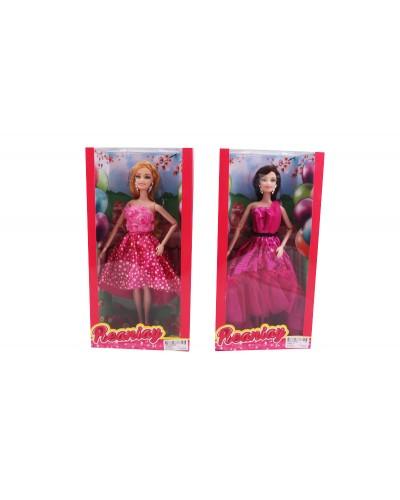 """Кукла типа """"Барби"""" CS699-11 2 вида, шарнирная, в вечернем платье, в кор.33*6*16,5см"""