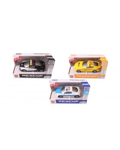 Машина батар. WY630B/C/D свет, звук, 3 вида, в коробке 15*7*5см