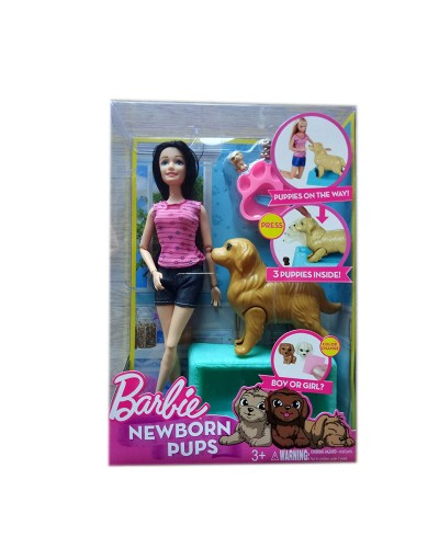 "Кукла ""B"" KQ060 собачка рожает щенков, аксесс, в кор."