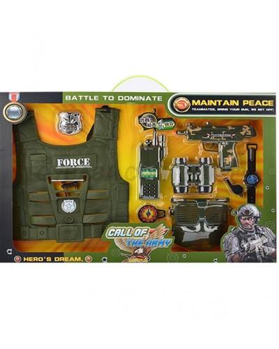 Военный набор 161J автомат, рация, компас, бронежилет…., в кор.