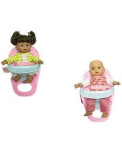Кукла 9968-12/14 3 вида, муз, мягкотелая, со стульчиком для кормления, кукла 35см