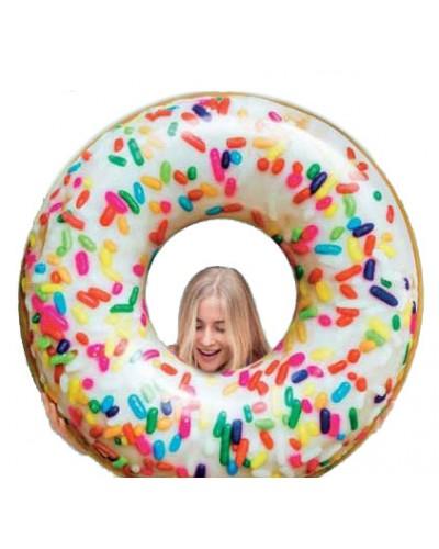 """Круг надувной 56263 """"Пончик"""" винил в кор. 114 см"""
