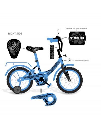 "Велосипед 2-х колес 12"" 181228 (1шт) со звонком, зеркалом,без ручного тормоза"