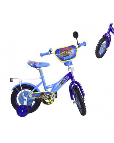 "Велосипед 2-х колес 12"" 181222 (1шт) со звонком, зеркалом,без ручного тормоза"