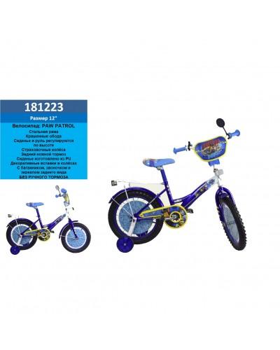 "Велосипед 2-х колес 12"" 181223(1шт) со звонком, зеркалом,без ручного тормоза"