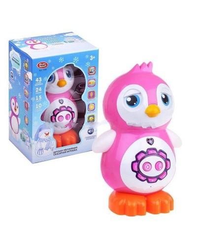 Интерактивное животное 7498 Пингвинчик, сенсор, стихи, сказки, песни, диктофон, в кор.