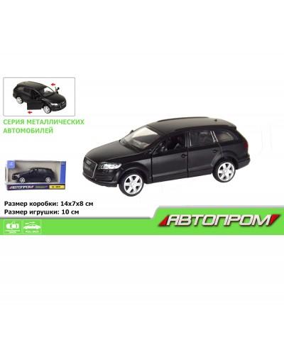 "Машина метал. 7619  ""АВТОПРОМ"" 1:43 Audi Q7  (matte black series) в кор."
