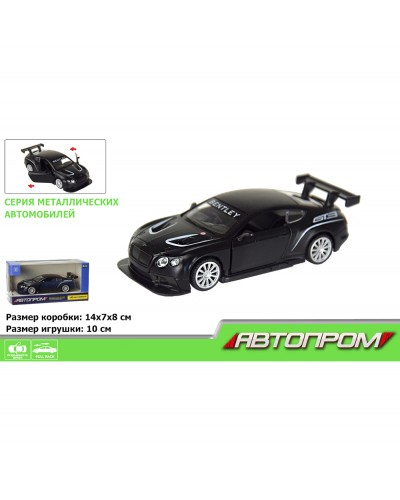 "Машина метал. 7613 ""АВТОПРОМ"" 1:43 Bentley Continental GT3 (matte black series) в кор."