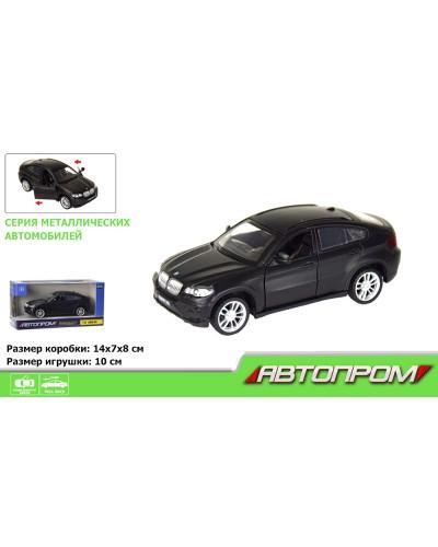 """Машина метал. 7622 """"АВТОПРОМ"""" 1:43 BMW X6  (matte black series) в кор."""