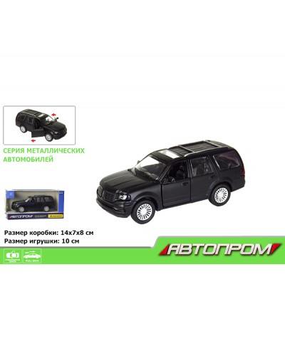 "Машина метал. 7626 ""АВТОПРОМ"" 1:46 Lincoln Navigator  (matte black series) в кор."