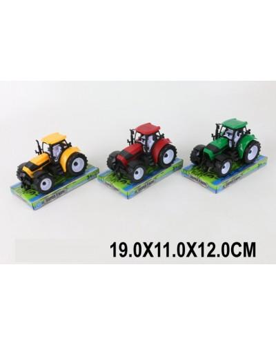 Трактор инерц. 9978 3 цвета, под слюдой 19*11*12см