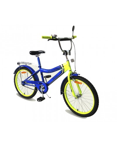 Велосипед 2-х колес 20'' 172034 со звонком, зеркалом, руч.тормоз, без доп.колес