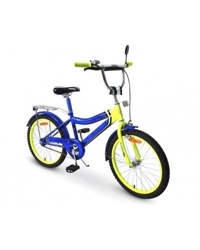 Велосипед 2-х колес 20'' 182040 со звонком, зеркалом, без доп.колес