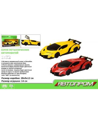 """Машина метал-пластик 7601 """"АВТОПРОМ""""1:32 Lamborghini Veneno, батар, свет, звук, в кор. 20*9*12см"""