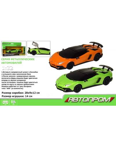 """Машина метал-пластик 7603 """"АВТОПРОМ"""" 1:32 Lamborghini Aventador LP750 SuperVeloce Roadster"""
