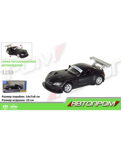 """Машина метал. 7612  """"АВТОПРОМ"""" 1:38  BMW Z4 GT3 (matte black series) в кор."""