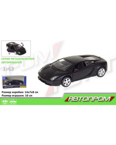 "Машина метал. 7614 ""АВТОПРОМ"" 1:43 Lamborghini Gallardo LP560-4 (matte black series) в кор."