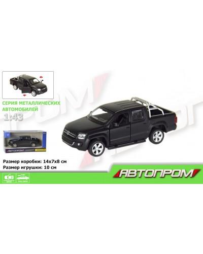 "Машина метал. 7616 ""АВТОПРОМ""  1:43 Volkswagen Amarok (matte black series) в кор."