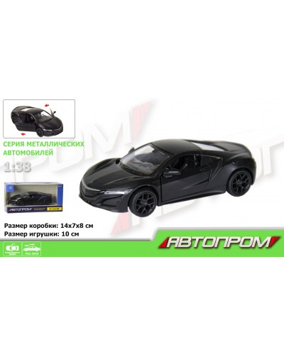 "Машина метал. 7618  ""АВТОПРОМ""  1:38 Honda Acura NSX (matte black series)в кор."