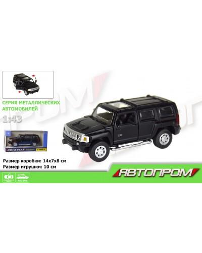 "Машина метал. 7623 ""АВТОПРОМ"" 1:43 Hummer H3  (matte black series) в кор."
