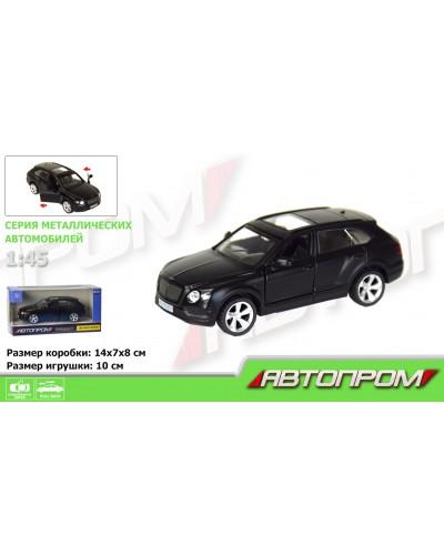 """Машина метал. 7627 """"АВТОПРОМ"""" 1:45 Bentley Bentayga  (matte black series) в кор."""