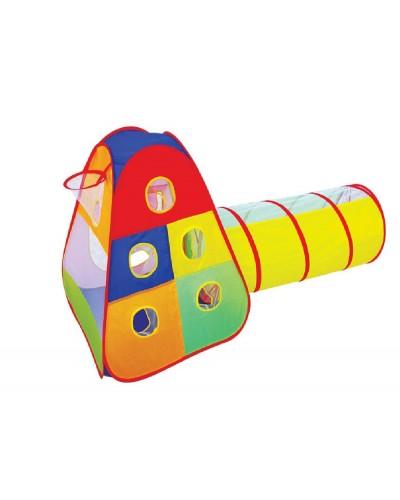 """Палатка 889-175B """"С тоннелем и кольцом для игры в мяч"""", в сумке 47*45см"""