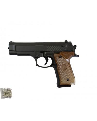 Пистолет метал.пластик G.22  с пульками в коробке 15,5*10*3см