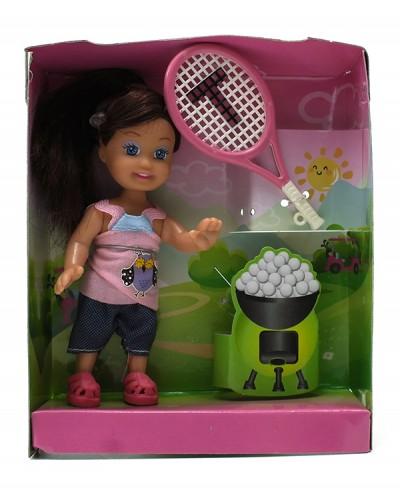 Кукла маленькая K899-36  со скейтбордом, в кор.
