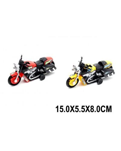 Мотоцикл инерц. 9965-1A 2 цвета, в пакете 15*5,5*8см