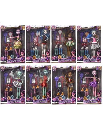 "Кукла ""MH"" HC186128  8 видов, набор обуви, зеркало, расчес., в кор.20*5*31см"