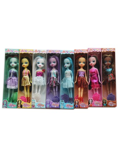 Кукла  117A 8 видов микс, в кор 27*7*4,4 см