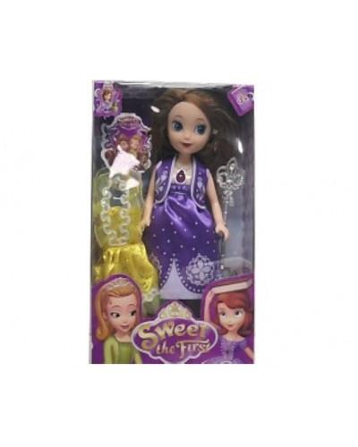 """Кукла """"S"""" RY899A  с платьем, аксесс, в кор.15*5*25см"""