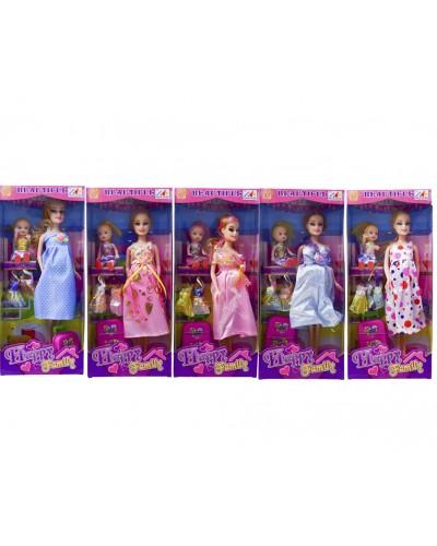 "Кукла типа ""Барби""Беременная"" 116-17A  5вид, куколка, набор платьев, чемодан, кор.32*5,5*14см"