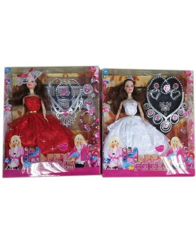"Кукла типа ""Барби 00298-17  с  аксесс, 2 вида микс, в кор.33*28*5,6 см"