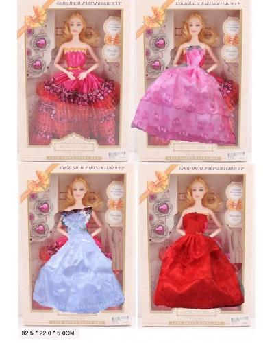 "Кукла типа ""Барби ZR-015A  4 вида микс, в кор 32,5*22*5 см"