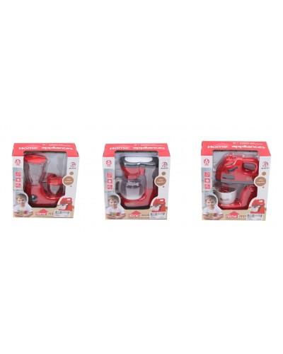 Быт.техника 979-10/2/3  3 вида (миксер/блендер/кофемашина), батар, функц,  свет,  в кор.17*16*9см