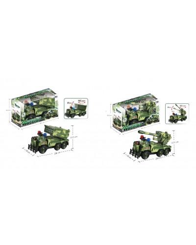 Военная машина батар. 128-19/20  2 вида, свет, в кор. 30,5*16,5*11,5см
